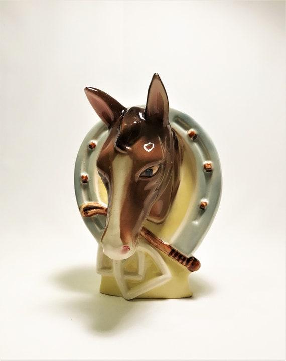 Vintage Australian Pottery Kalmar Horse Head Wall Vase Etsy