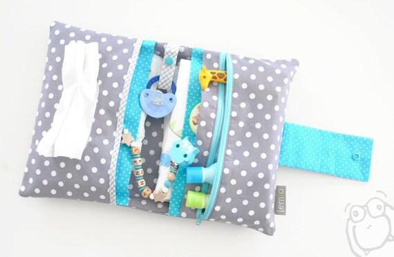 Wickeltasche mit Namen personalisiert Windeletui Baby individuelles Geschenk NEU