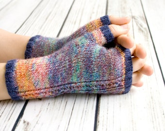 Fingerless Gloves -  Knit Fingerless Mittens - Fingerless Wool Gloves - Knit Arm Warmers