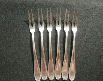 6 pieces silver forks with Punze, 2 tines, 835 silver, manufactured Germany 1911, plastered