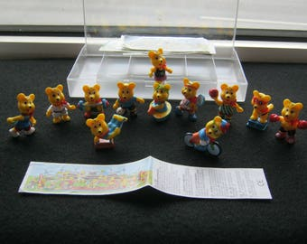 Vintage toys, ob-Ei figures here series Bear Olympiad Austria around 1990, very good condition