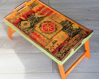 Swell Orange Serving Tray Etsy Gamerscity Chair Design For Home Gamerscityorg