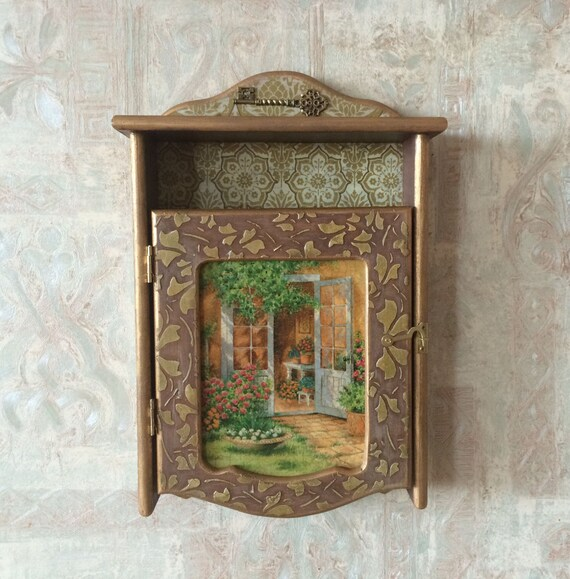 Superbe Wooden Key Box Wall Key Cabinet Unique Wall Cabinet Wooden | Etsy