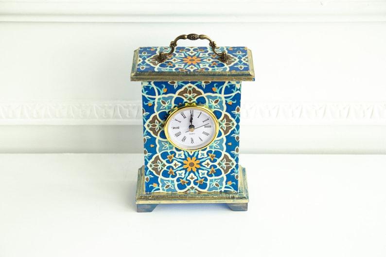 5f1e624431d Manteau bleu horloge pendulette cheminée ornement de | Etsy
