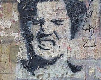 Oil-on-canvas painting: 'Elvis Graffiti'