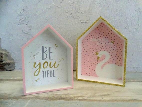 Houten planken swan thema planken zwaan decoratie meisje etsy
