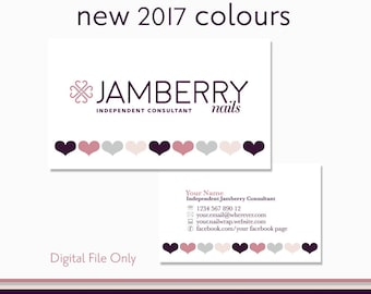 Usborne business cards usborne consultant business cards nail wrap consultant business card digital file personalised with your information 2017 jamberry colours reheart Choice Image