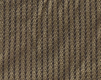 BTY mid century 1962 Ford tan abstract stripe upholstery fabric