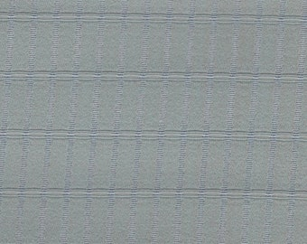 1 yard large remnant 1962 blue grey flannel like upholstery fabric
