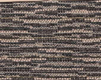 BTY mid century 1960 Plymouth auto upholstery woven black and tan