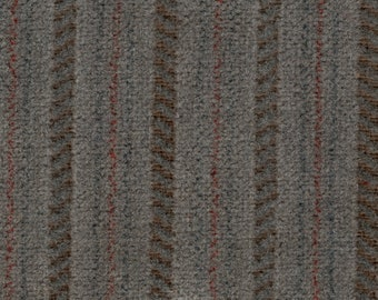 BTY vintage Jeep Wagoneer upholstery fabric red white woven