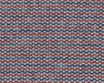 BTY 1970 Ford Thunderbird woven black upholstery metallic blue thread
