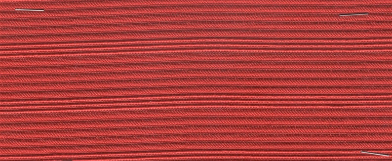 Large remnants cool 1950s red stripe upholstery with ridges