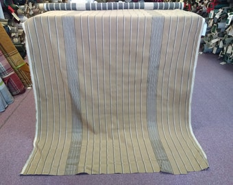 BTY vintage tan and black cloth panel upholstery