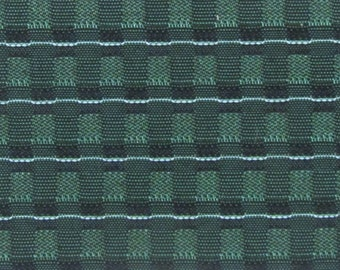 BTY mid century 1960 Chevy auto upholstery woven fabric green and white