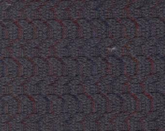 BTY Vintage Pontiac Dark Grey Cloth Auto Upholstery w/ Abstract Stripes