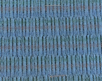 BTY mid century auto upholstery fabric BLUES 1963 Oldsmobile