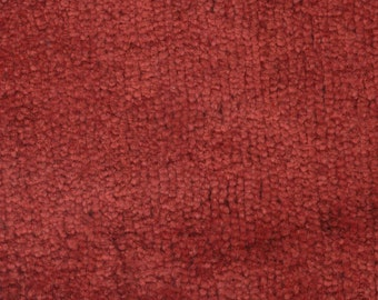 BTY Vintage 1976-77 Buick / Century / Electra / Riviera Red Plush Velour Auto Upholstery w/ Woodgrain