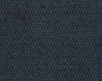 1 1/3 yards vintage 1989 Ford blue and black zig zag tweed upholstery