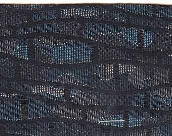 BTY 1960 Chrysler Plymouth Black and Blue Satin Auto Upholstery