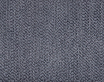 2 1/3 Yards Vintage 1986-87 Pontiac Grand Prix / Bonneville / Parisienne Grey Plush Velour Auto Upholstery w/ Tiny Zig Zags