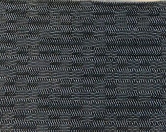 BTY mid century auto upholstery abstract black and grey 1960 Chevy