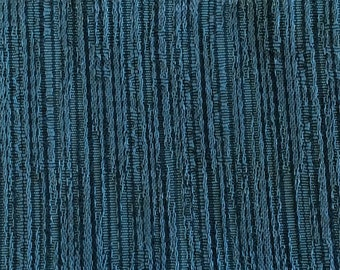 ROLL END 1.25 yards 1966 Plymouth upholstery subtle teal stripe