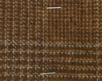 BTY vintage auto upholstery mustard and grey plaid