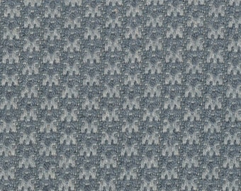 BTY vintage auto upholstery blue and grey abstract design
