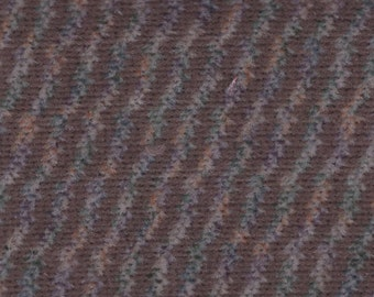 2 1/3 Yards Vintage 1995 Ford Brown Multicolored Plush Velour Auto Upholstery w/ Diagonal Lines