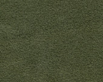 BTY Vintage Olive Green Suede Cloth Auto Upholstery