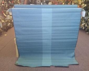 BTY mid century 1960 Chevrolet blue green stripe panel fabric