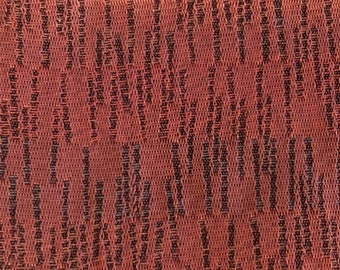 BTY mid century auto upholstery fabric red abstract 1961 Oldsmobile