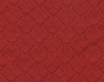 BTY mid century 1966 Chevrolet red embossed upholstery