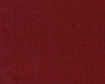 1 1/2 Yards Vintage 1980 Pontiac Phoenix Red Striped Velour Auto Upholstery