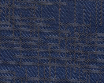 Almost 2 yards 1950s blue and black abstract design