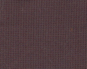 BTY Vintage Brown Cloth Auto Upholstery w/ Tiny Checkerboard Pattern