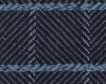 3+ Yards Vintage 1975-76 GM Truck Blue Plaid Cloth Auto Upholstery