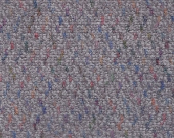 1 1/2 Yards Vintage Grey Plush Velour Auto Upholstery w/ Multicolored Lines