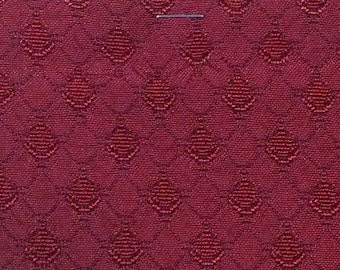 BTY mid century 1966 Dodge auto upholstery woven red