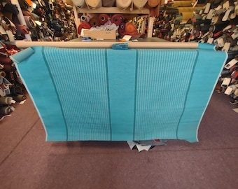 1 yard 1961 Chevrolet turquoise panel upholstery fabric