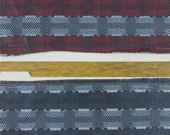 BTY mid century black white and red plaid woven plastic upholstery fabric 2 CHOICES