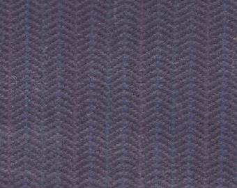 BTY Vintage Nissan Blue Grey Chevron Velour Auto Upholstery
