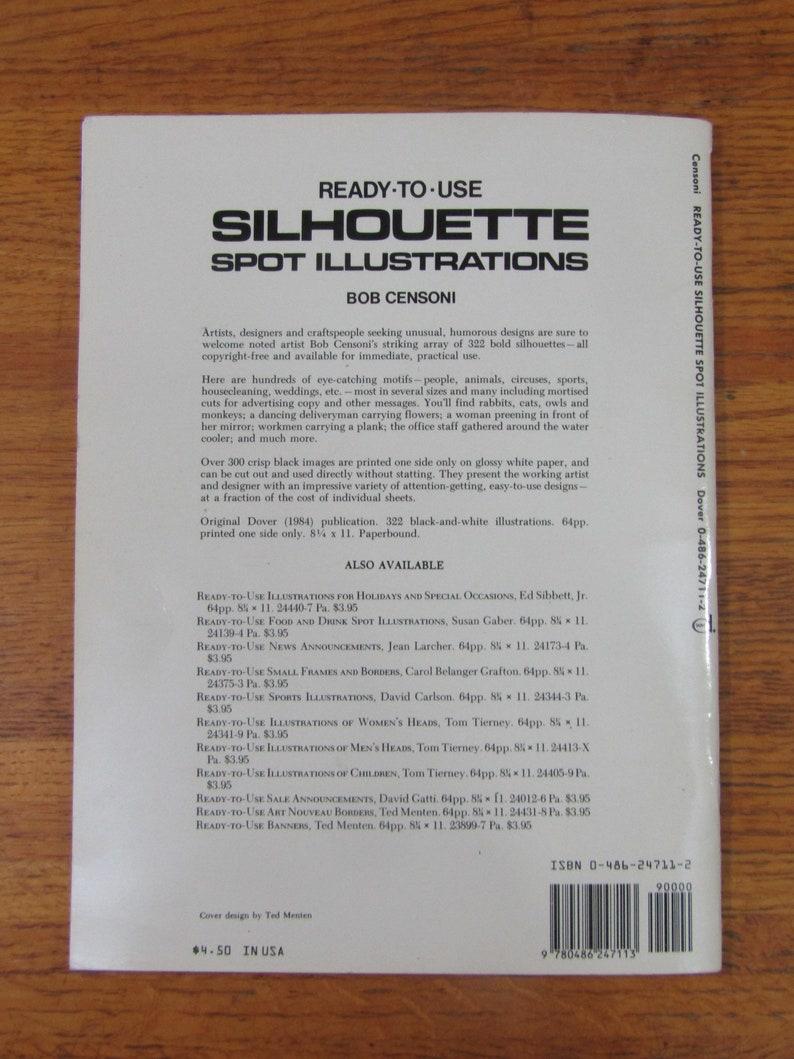 1984 Dover Clip-Art Silhouette design book by Bob Censoni