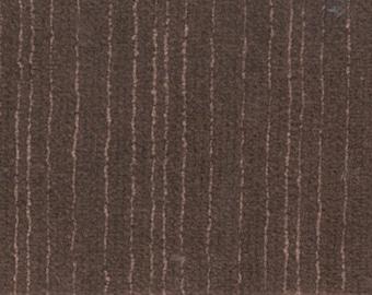 1 1/2 yards plush brown velour subtle stripe G.M. upholstery