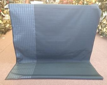 1 1/2 yards  mid century auto upholstery dark blue abstract stripe panel