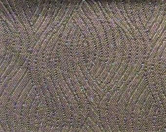 BTY mid century auto upholstery fabric blue gray satin swirl 1967