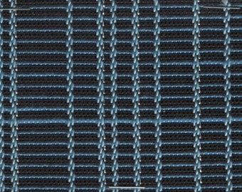 1 1/3 yards mid century 1961 Ford blue stripes with silver thread