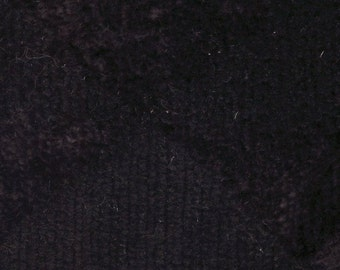 BTY Vintage Black Plush Velour Auto Upholstery w/ Triangles
