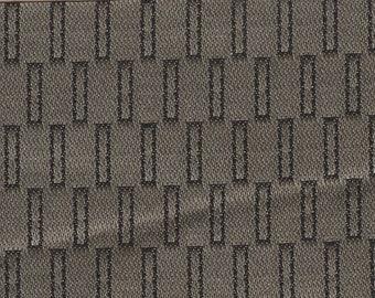 BTY vintage 1963 Ford satin upholstery khaki and black design